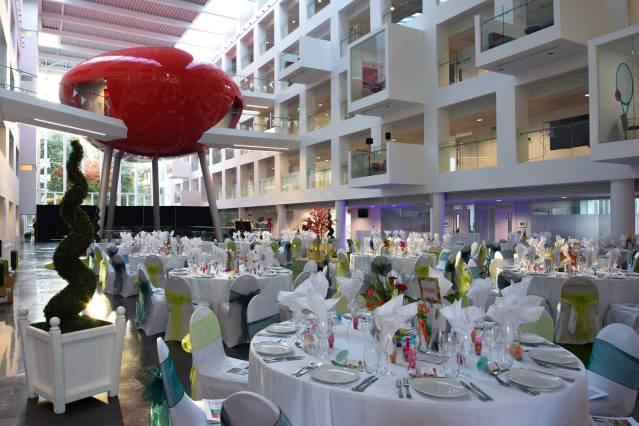 Solent Spark Event 10 dinner set up