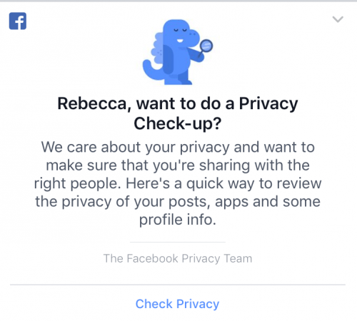 It's Facebook privacy check-up time!