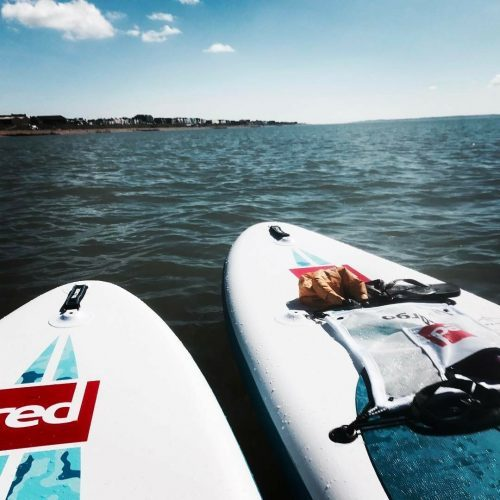 Spring paddle boarding adventures on the South Coast of England