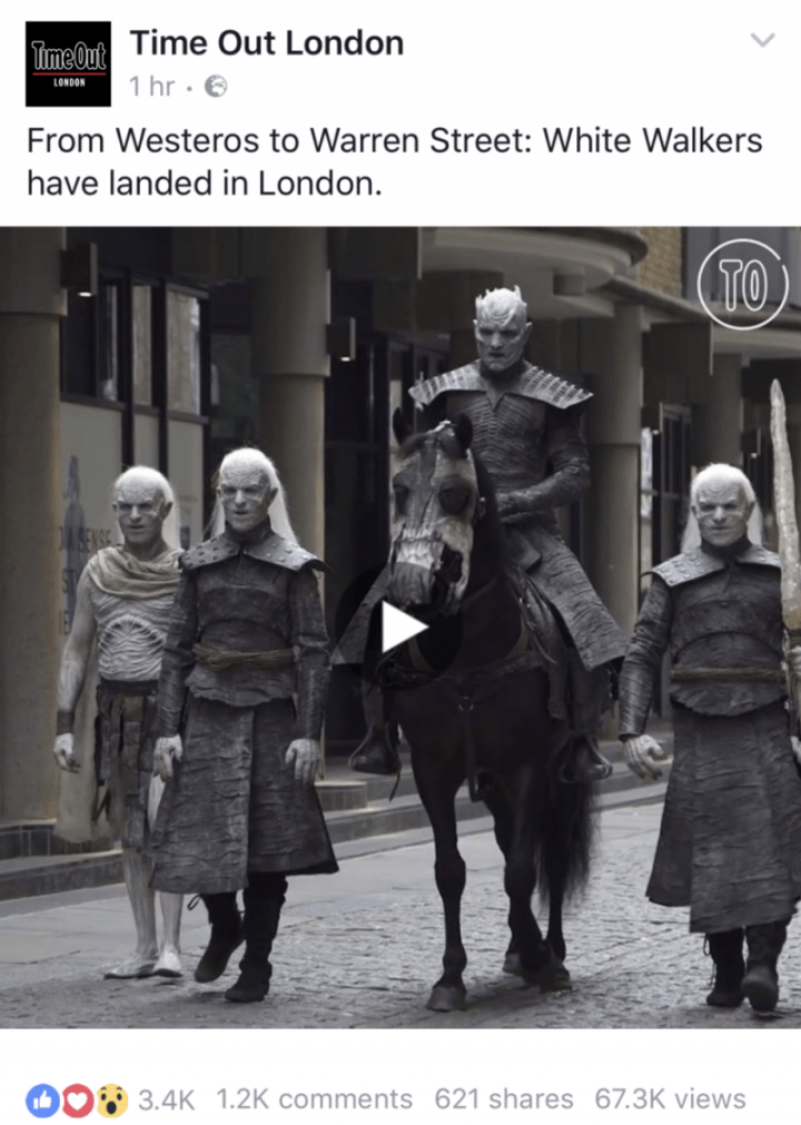Creative Campaigns #14 – White walkers roam for Game of Thrones series 7