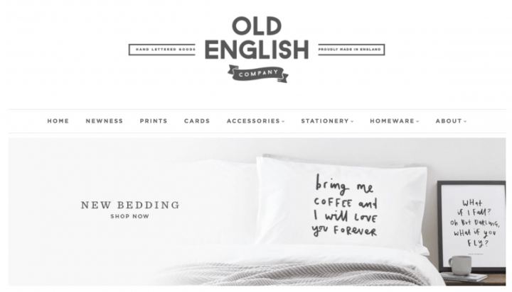 Stationary, homeware and pins from Old English Company