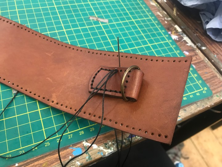 The process of making a leather satchel with The Maker's Guild