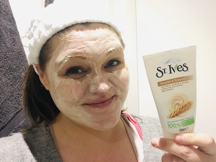 Hello glowing cheeks! St Ives Oat Scrub and Mask