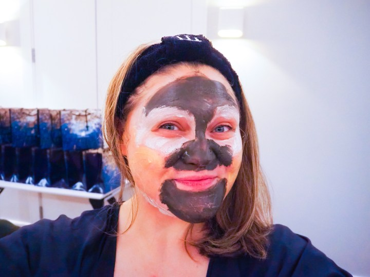 Bex with different face masks in different areas