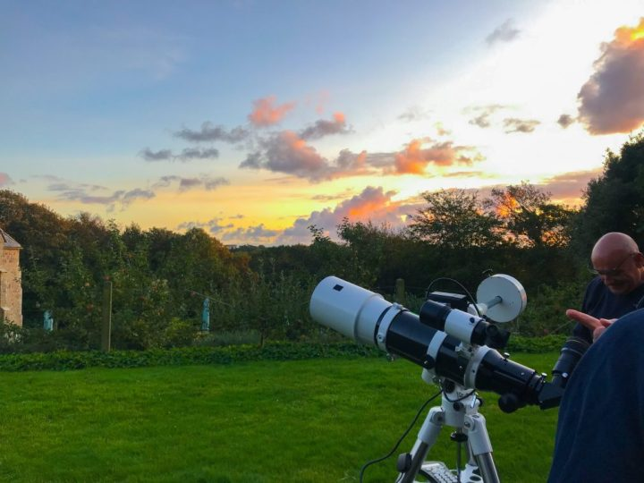Stargazing at Trerice, Cornwall