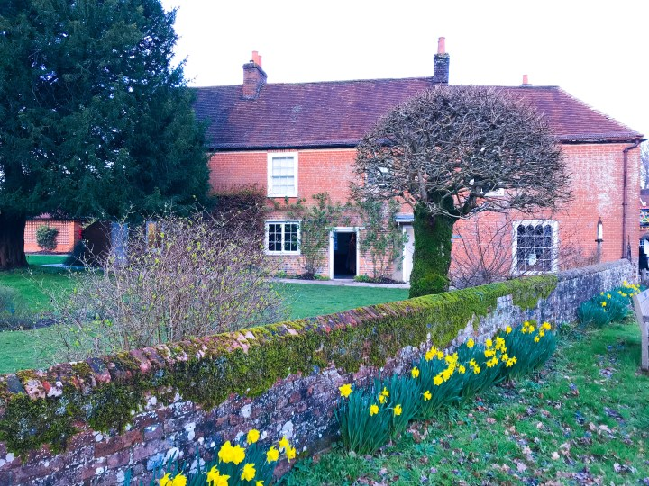 The view of the garden of Jane Austen's House