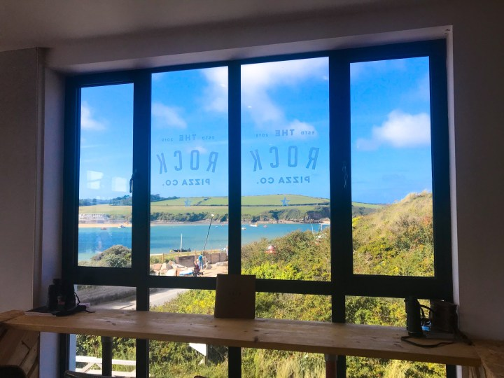 The Rock Pizza Co. in Rock, over the water from Padstow in Cornwall