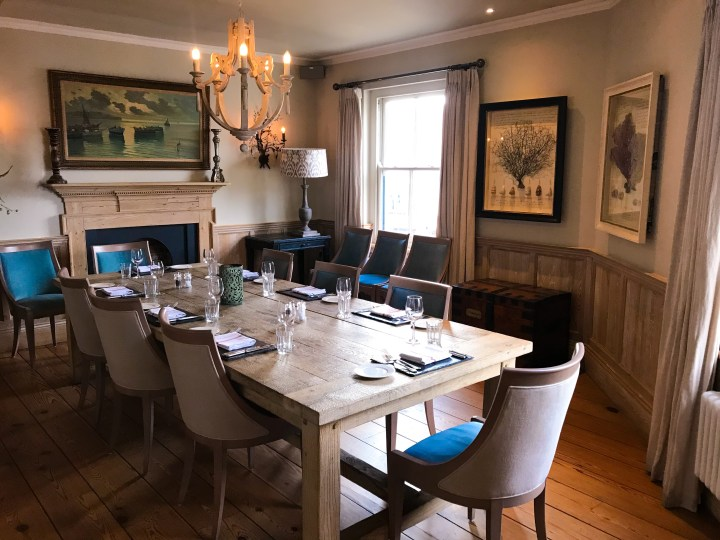 Private Dining Space at Ruby's Bar, a Rick Stein business in Padstow, Cornwall, England