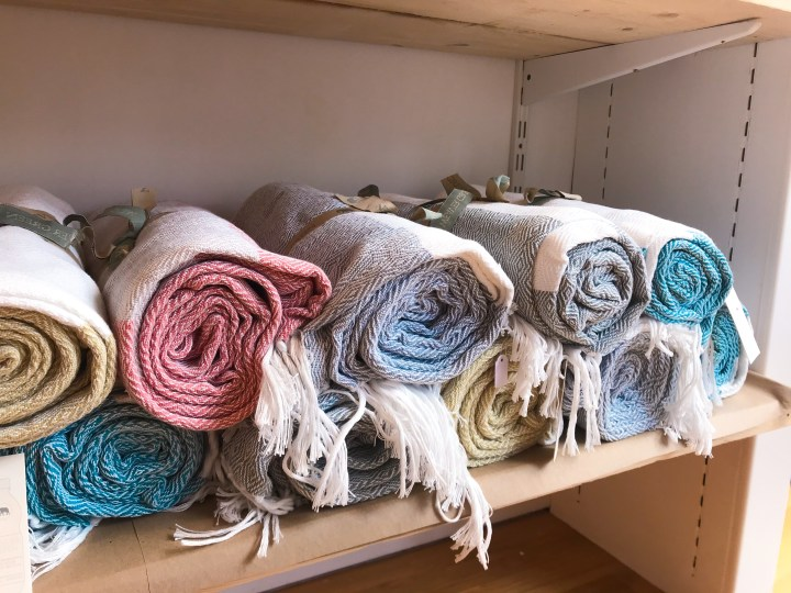 Blankets in Lifestyle and wellness shop, Coastal Remedy on Marmion Road in Southsea, Portsmouth, Hampshire