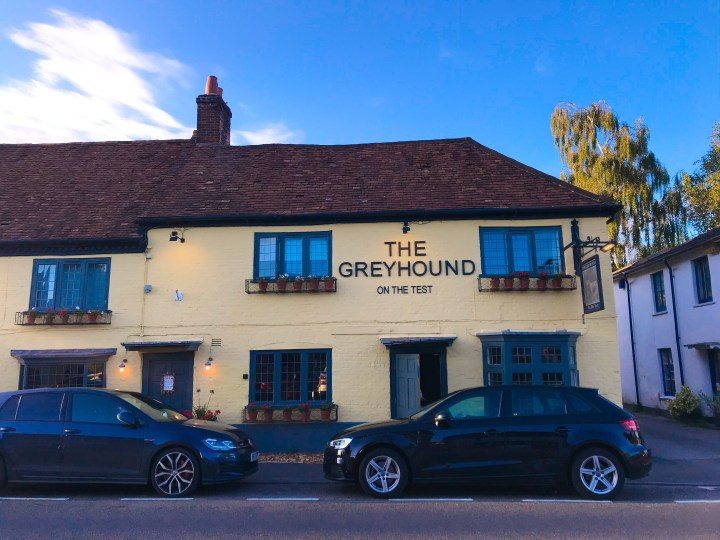 The Greyhound on the Test in Stockbridge, Hampshire