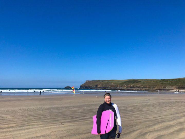 Body Boarding in Cornwall