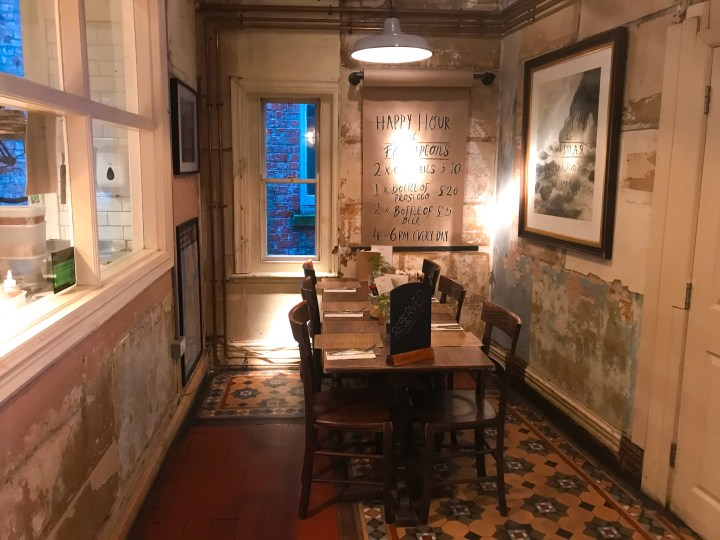 A nook in Framptons Cafe, Bar & Kitchen in Ringwood, Hampshire