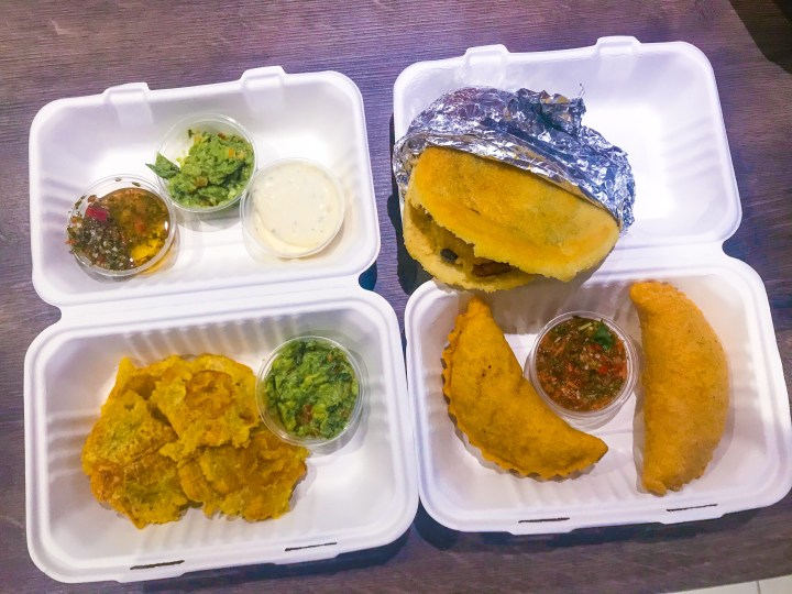 A feast and selection from the menu from Latin Food At Home, Colombian take away food from Portsmouth, Hampshire