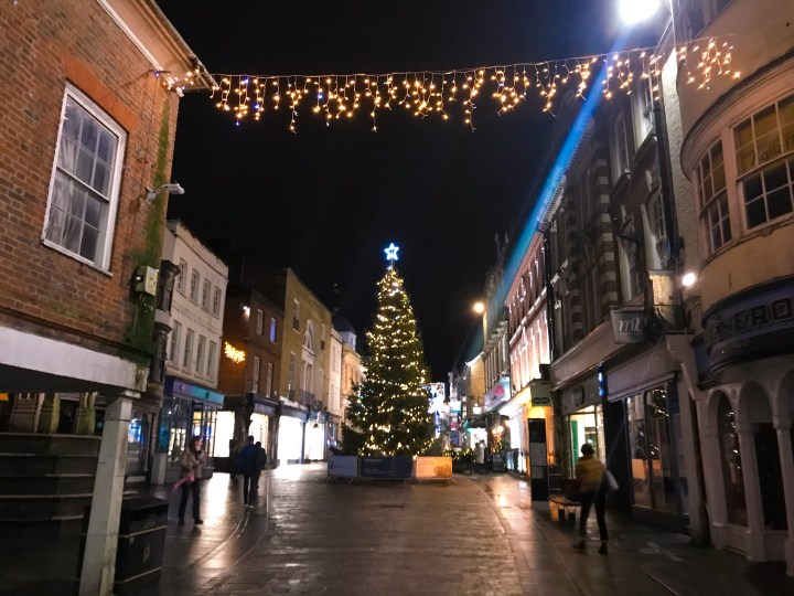 The Winchester Christmas Lights on Winchester High Street