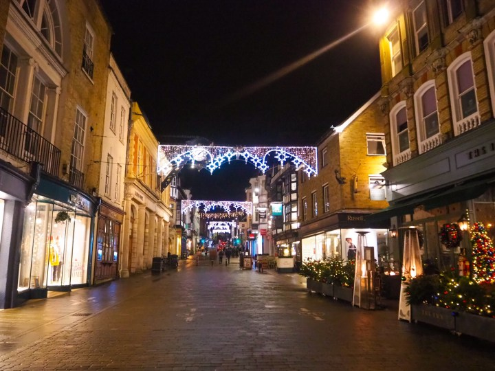 The Winchester Christmas Lights on the high street