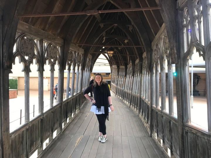 Bex on the Hogwarts Bridge at Warner Bros. Studio Tour - The Making of Harry Potter