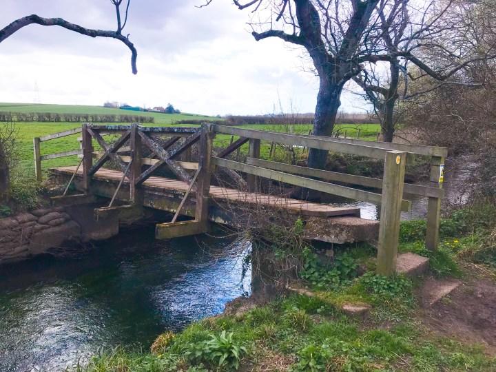The third bridge on the Wallington River walk in Fareham, Hampshire