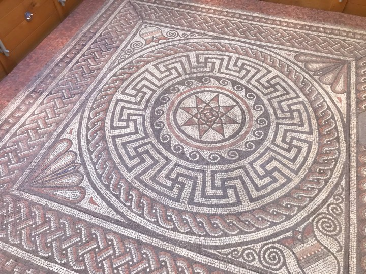 A mosaic at Winchester City Museum