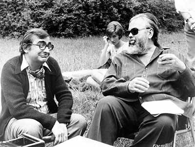 Chabrol and Orson Welles during the making of Ten Days' Wonder (1971)
