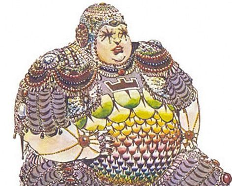 "Baron Harkonnen, to be played by Orson Welles, as drawn by Jean ""Moebius"" Giraud for Jodorowsky's Dune"