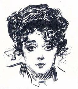 Mabel as a Gibson girl