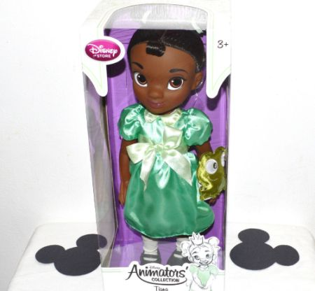 """Toddler Tiana Doll"" from the Disney Store"