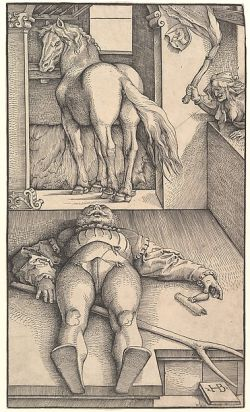"Woodcut: ""The Bewitched Groom"" by Hans Baldung"