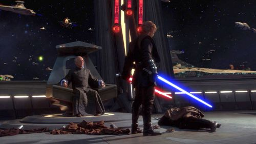 Morality is codified through color in Star Wars Episode III: Revenge of the Sith (2005)