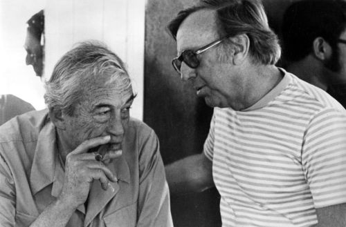 John Huston and Ray Stark