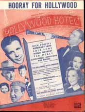 Sheet music for Hooray for Hollywood