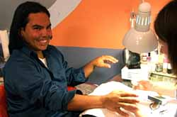 Edilson, straight: Likes to get manicures, which is common in Brazil where he is from.