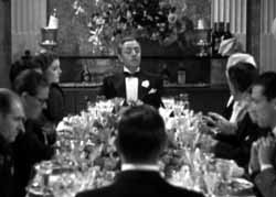 The dinner party scene in The Thin Man