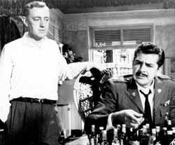 with Alec Guinness in Our Man in Havana