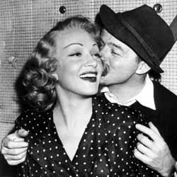 Dietrich and Wilder on the set of A Foreign Affair