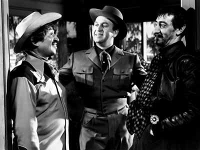 Alfonso Bedoya, Howard Da Silva, and Arnold Moss in Border Incident