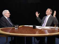 Charlie Rose interviewing Warren Buffet
