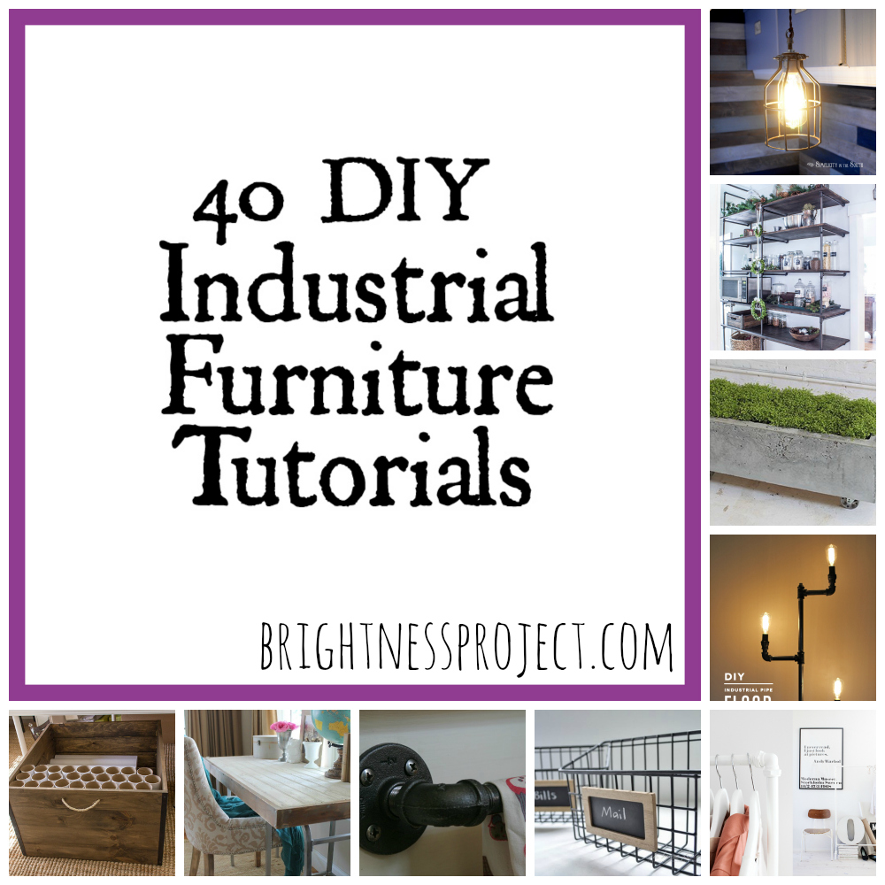 40 Industrial Furniture DIY Tutorials
