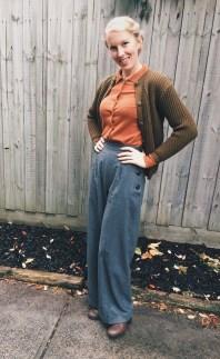 Trouaers: Vivien of Holloway / Top: Lindy Bop / Cardigan: Elise Boutique