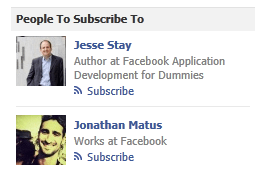 Facebook subscription suggestion ad