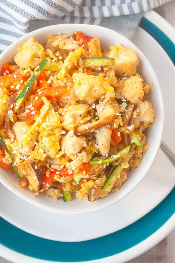 Curry Chicken Fried Rice| brightrootskitchen.com