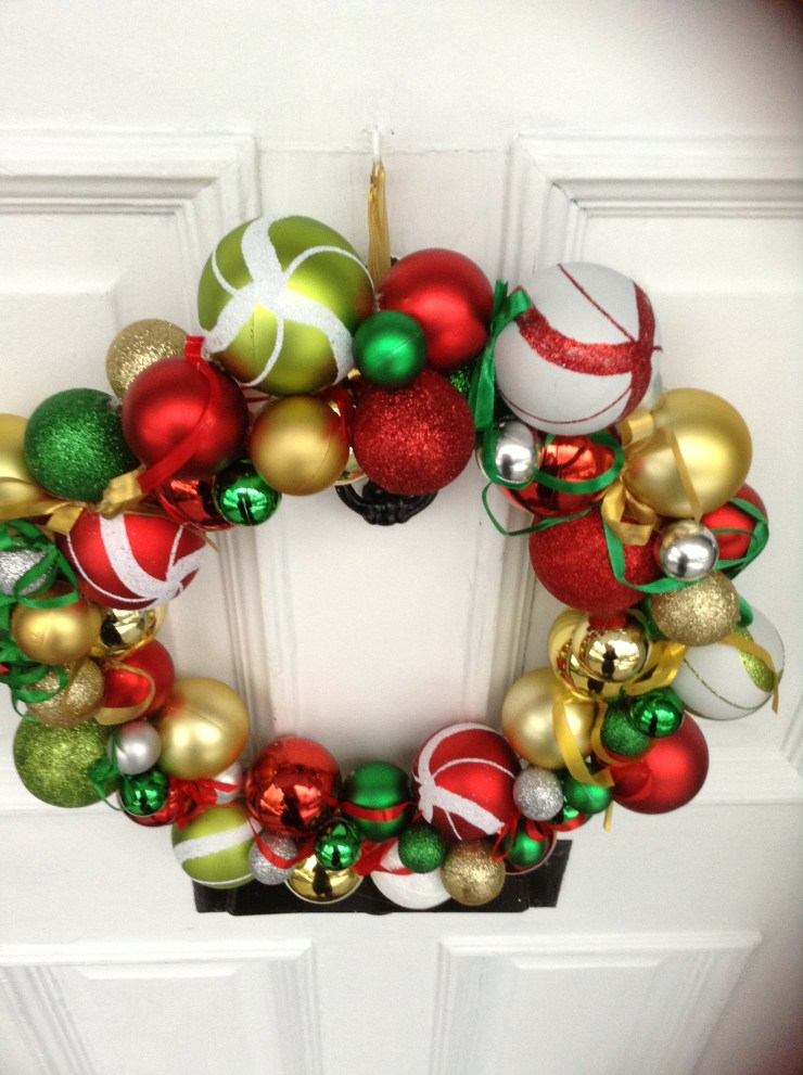 DIY Red Christmas Wreath