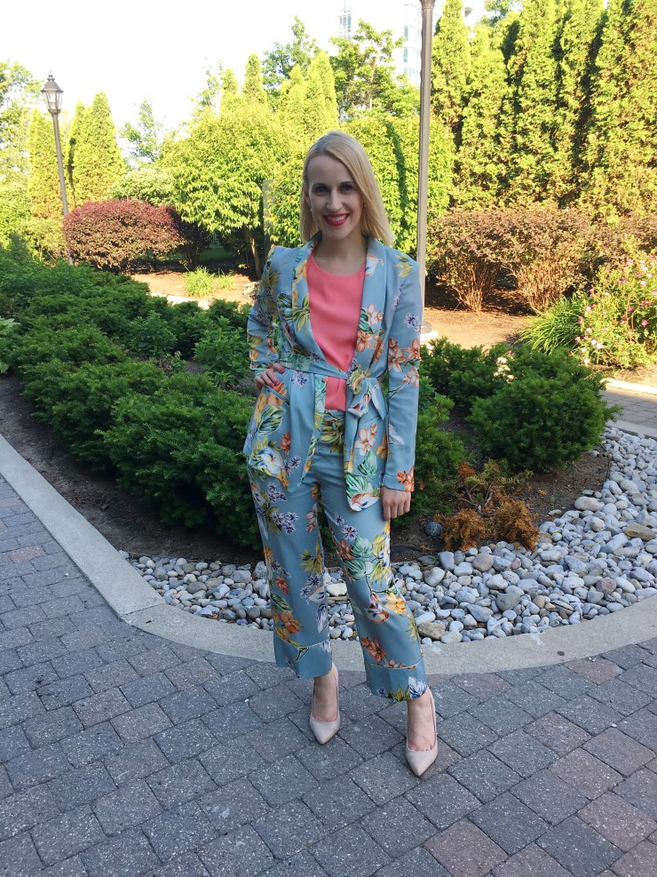 Floral Suit Outfit - What I wore to work