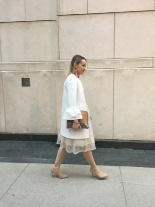 Walking - neutral outfit
