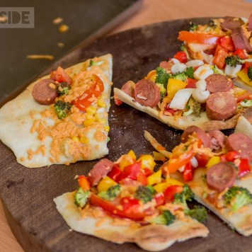 Plant-based pizzas created by kids