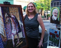 "ie Mazzoni, September ""Best of Show"" winner, will be at dk Gallery tonight for the Encore Show. Congratulations Julie!"