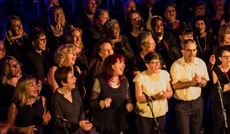 60 members form 3 community choirs sing together