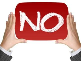 """如何说""""NO"""""""