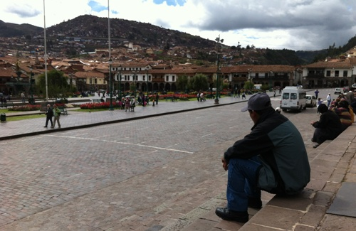 Cusco city square - life moves a little slower
