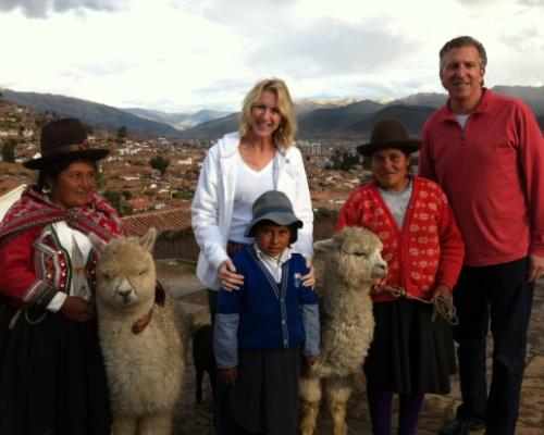 Cusco locals - tourist photo opp