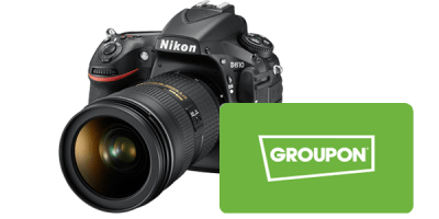 Camera groupon experiential gift card package